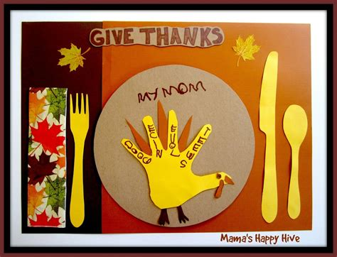 thanksgiving placemat craft for thanksgiving activities and printables learn play link