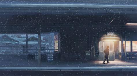 5cm per second 5 centimeters per second makoto shinkai anime snow