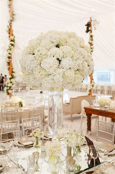 and white centerpieces 17 best ideas about hydrangea centerpieces on
