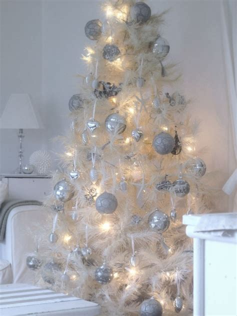 white ornament tree white tree with silver ornaments pictures photos and