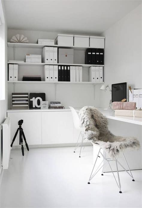 white home office 37 stylish minimalist home office designs digsdigs