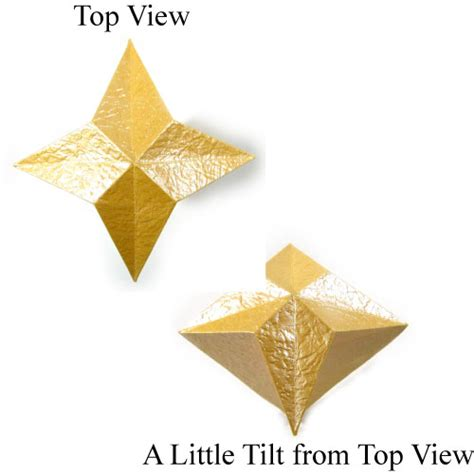 four pointed origami how to make a 3d four pointed origami page 1