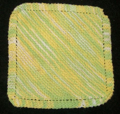 diagonal knit dishcloth diagonal dishcloth by cherokeecfiregirl on deviantart
