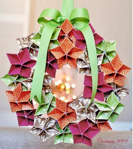 origami wreath origami maniacs origami flowers to make a wreath