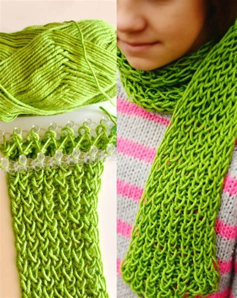 knitting a scarf on a loom wonderful diy loom knitted fingerless gloves and scarf