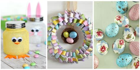 how to make handmade crafts for home decoration 60 easy easter crafts ideas for easter diy decorations