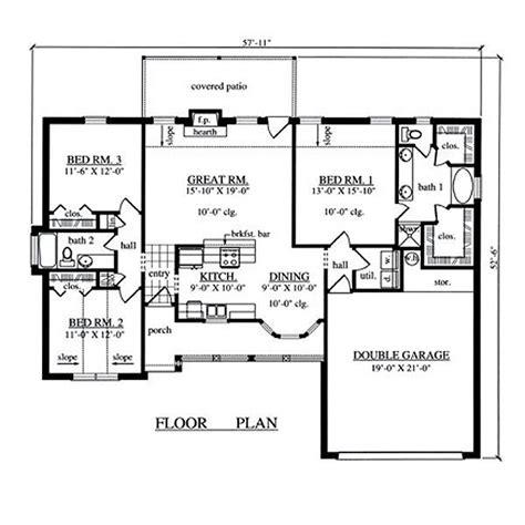 3 bedroom house plans and designs 1504 sqaure 3 bedrooms 2 bathrooms 2 garage spaces 57