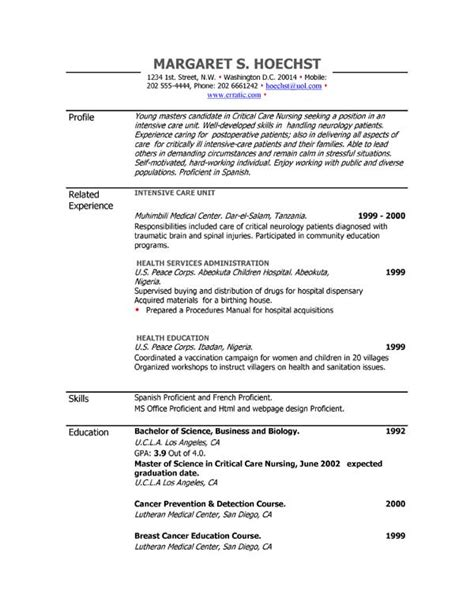 resume exaples resume examples example of resume by easyjob the best