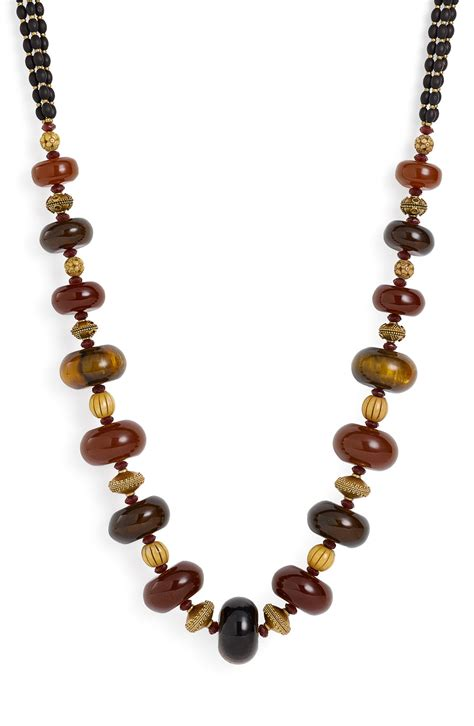 brown bead necklace by ralph bead necklace in brown brown
