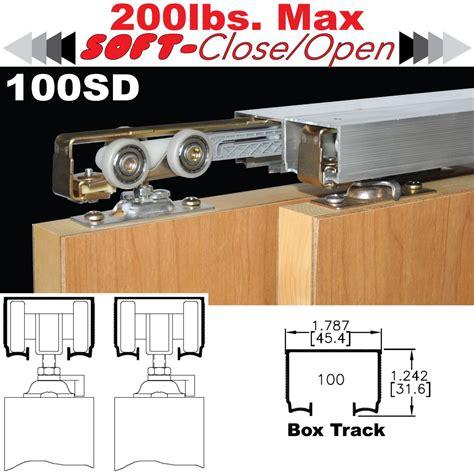 overhead sliding door hardware johnson hardware 100sd sliding bypass door hardware