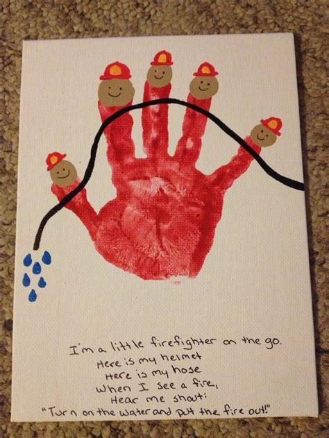 firefighter crafts for firefighter handprint craft ideas s