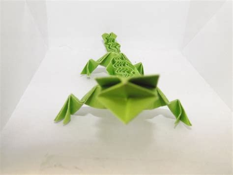 origami gecko origami lizard by lostvapor on deviantart