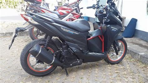 Pcx 2018 Hitam Dop by Modifikasi Vario 150 Indonesia Warungasep