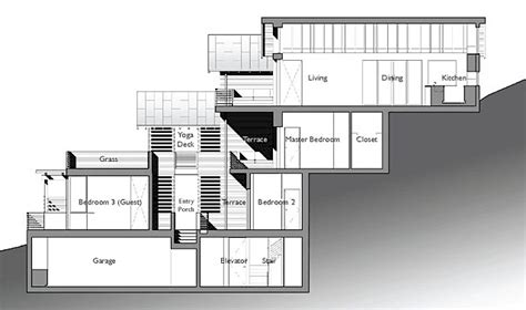 steep hillside house plans amazing leed home with a vertical design househillside house digsdigs