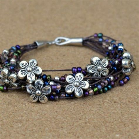 beginner jewelry projects make this easy floral bracelet without jewelry tools just