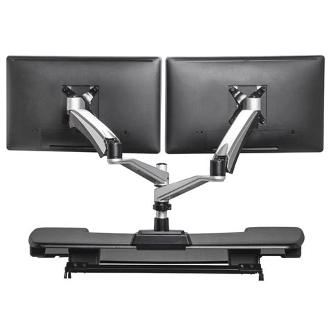 standing desk monitor mount dual monitor arm mount monitor stands varidesk 174