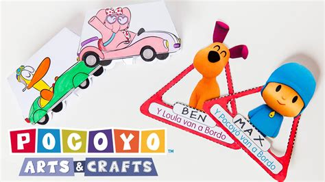 crafts and arts for pocoyo arts crafts diy car projects ep 1