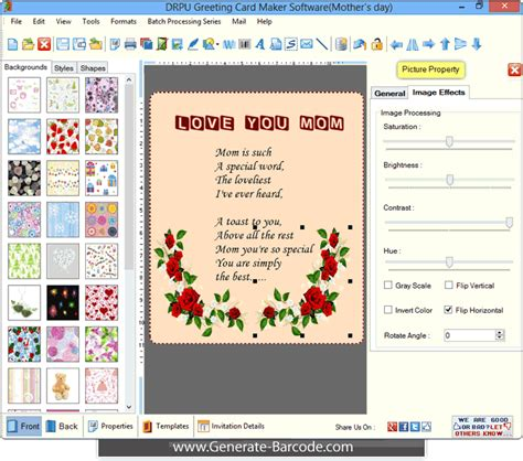 e card software greeting card maker software generate cards