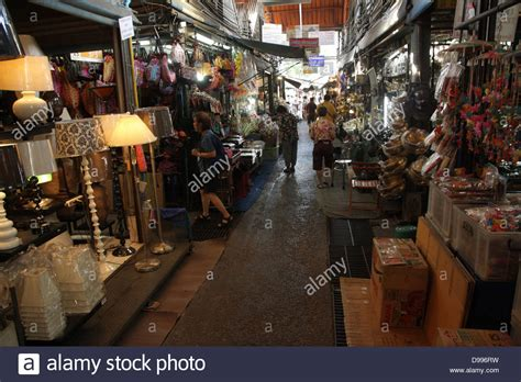 chatuchak market home decor walkway near a home decor shop at chatuchak weekend market