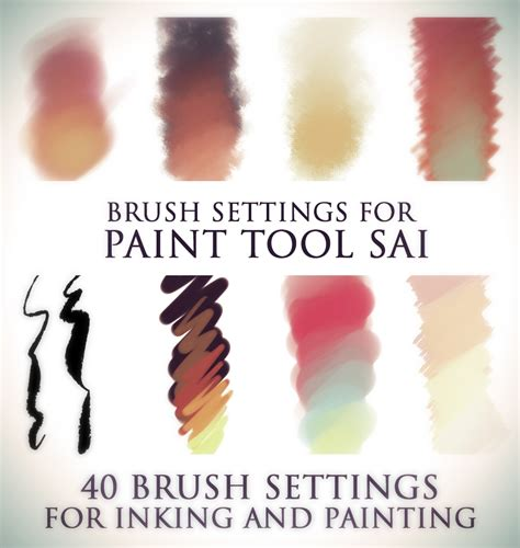 paint tool sai background brushes brush settings for paint tool sai by docwendigo on deviantart