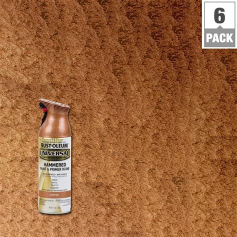 home depot spray paint for metal rust oleum universal 12 oz all surface hammered copper