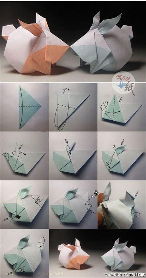 origami guinea pig origami rabbit folding origamis