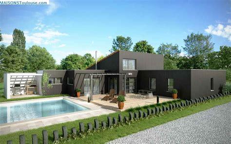 maison ossature metallique avis maison passive darmstadt en allemagne maison toit terrasse et