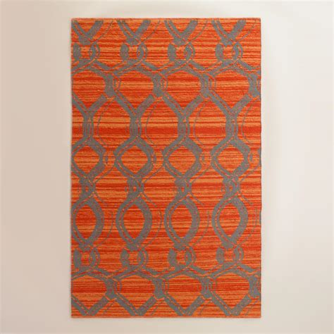 outdoor rugs world market orange and gray ventura reversible indoor outdoor rug