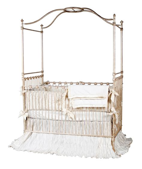 canopy crib in gold