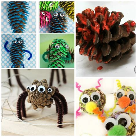 craft ideas with pine cones for harvest pine cone crafts story time
