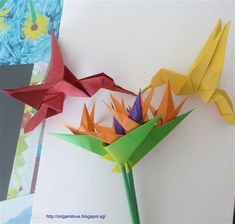 origami bird of paradise flower origami artist and freelance instructor in singapore