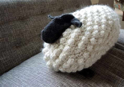 real knitting a wool sheep knitted with sheep s wool blueberry hill