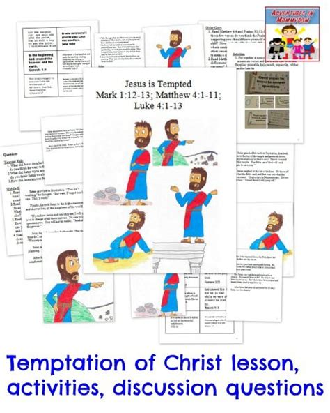 temptation of jesus crafts for temptation of jesus activity activities and we