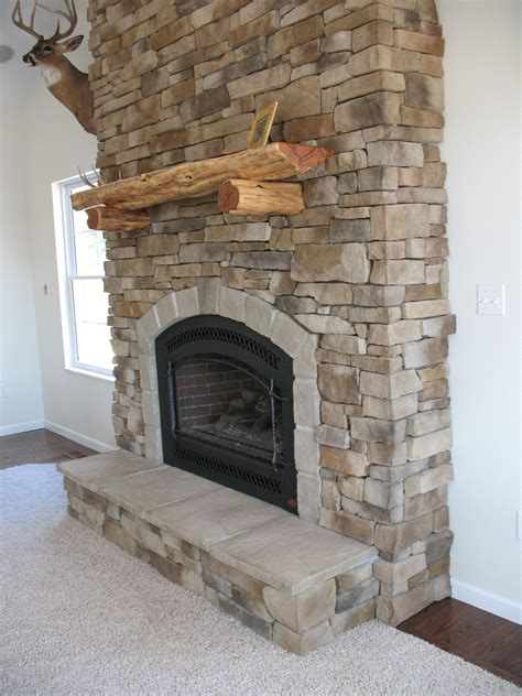 rock fireplaces fireplace veneered house ideas brick wall rustic