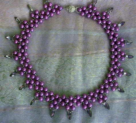 bead magic free pattern for necklace violet freeze magic