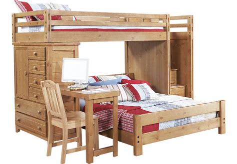 steps for bunk beds creekside taffy step bunk bed with desk and