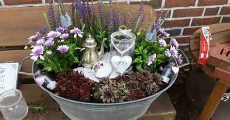 Blumenkübel Bepflanzen Vorschläge by Bepflanzte Zinkwanne Garten Zinkwanne