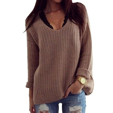 big knit jumpers womens winter jumpers khaki brown knitted sweater poncho