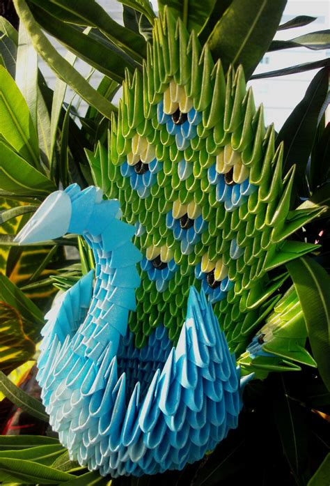 peacock origami peacock 3d origami by sophieekard on deviantart