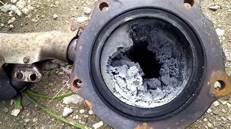 Signs Of A Bad Cadillac Converter by View Inside Catalytic Converter And You See How Easy To