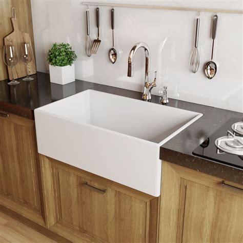 white kitchen sinks miseno mno3020fc white modena 30 quot single basin farmhouse