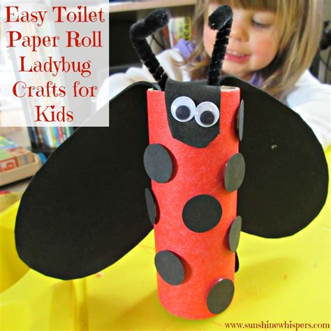 toilet paper roll crafts for easy easy toilet paper roll ladybug crafts for