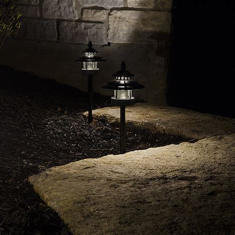 landscape path lighting led landscape path lights dual tier 2 watt aluminum