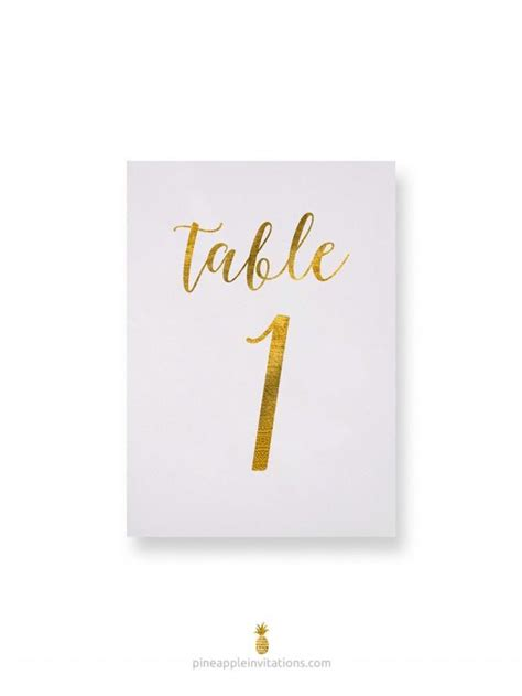 how to make table number cards octavia gold foil table numbers gold table number cards