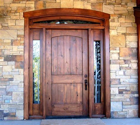 exterior front doors wood best 25 solid wood front doors ideas on wood