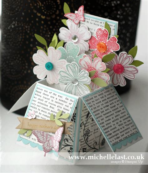 how to make card in a box card in a box using stin up products with last