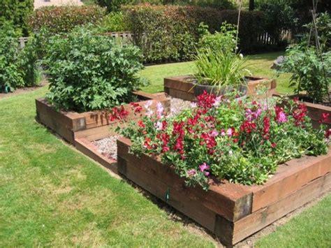 raised flower garden raised beds for easy low maintenance backyard gardens