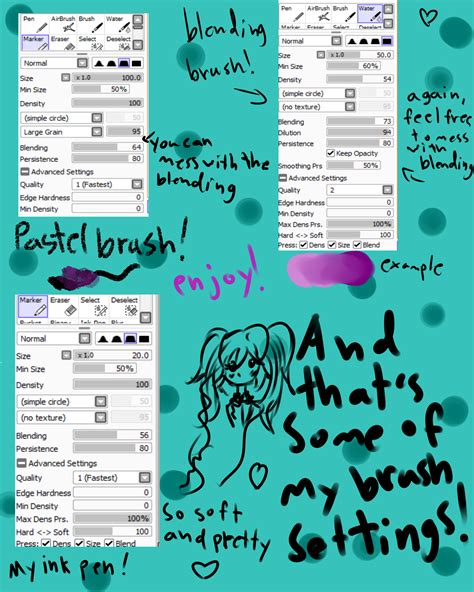 paint tool sai 2015 paint tool sai brush settings 1 by kawaii mlp anime on