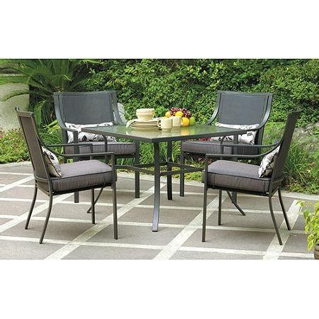 mainstays wicker 5 patio dining set seats 4 patio dining sets clearance