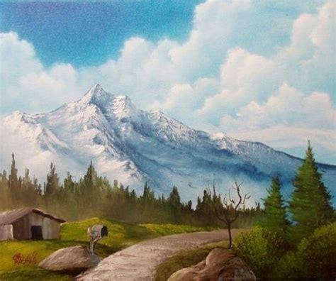 bob ross paintings auction m 225 s de 1000 im 225 genes sobre pintar paisajes en
